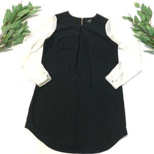🌿 Mossimo || Long Sleeve Color Block Midi Dress